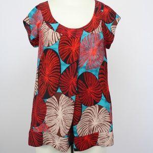 DVF Ayu Sea Urchin Silk Top